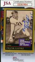 Frank Gatski 1991 Enor Hall Of Fame Jsa Coa Hand Signed Authentic Autograph