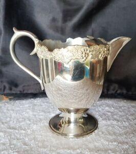 Vintage Old Sheffield Reproduction Silver Plate Unicorn Lustre Jug