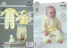 KINGCOLE 4846 BABY CHUNKY KNITTING PATTERN -14-22inch- not the finished garments