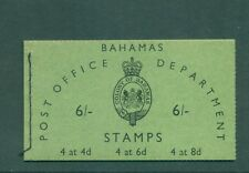 Bahamas 1961 6sh Booklet with inverted panes SB3