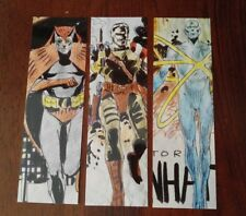 SDCC 2008 WATCHMEN Promo Bookmark Set! DC Comics Dr Manhattan Comedian Nite Owl