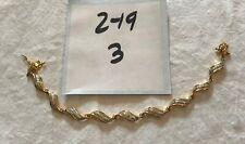 Lovely Vintage PAJ BB Gold & Silver Tone Illusion Curved Link Bracelet