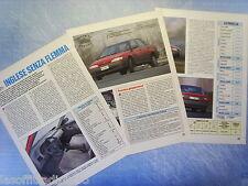 QUATTROR992-PROVA SU STRADA/ROAD TEST-1992- ROVER 416 GTi -3 fogli
