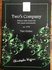 Two's Company. 16 duets for 2 violins by Christopher WigginsBOOK