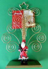 PORTA Carte di Natale-contiene 20 carte-Santa Swirl Design-Colore Oro