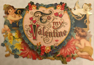 Punch Studio Valentines Cut Out Note Card  To My Valentine Kirshner Ephemera