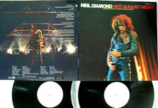 "NEIL DIAMOND ""Hot August Night"" Rare 1972 Japan White label PROMOTIONAL 2Lp"