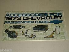 Teileliste Zubehörkatalog Zubehör Katalog Accessories Catalog Chevrolet 1973