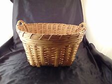 Bamboo reed basket handles storage toy towel magazines books decor craft holder