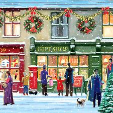 "Christmas Paper Luncheon Napkins 2 x 20pcs 13""x13"" Winter Shopwindow"