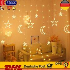 138-LED Sonne Mond & Stern Fairy Schnüre Ramadan Urlaub Dekoration Licht Deko DE