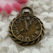 free ship 19 pieces bronze plated clock charms 34x26mm #3869