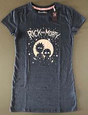 Rick and Morty Damen Longshirt Nachthemd Schlafshirt Pyjama Big T-Shirt XXS-XXL