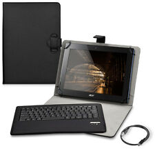 "Borsa Chic QWERTY per Tablet 9-10"" NERO TASTIERA BLUETOOTH ECO PELLE"