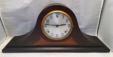 Antique Gilbert 1807 Mantle Shelf Clock Wood Camel Back Vintage Key Wind Chime
