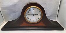 Antique GILBERT 1807 Mantle Shelf Clock Wood Camel Back Vintage Key Wind Chime