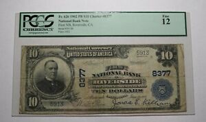 $10 1902 Riverside California CA National Currency Bank Note Bill Ch. #8377 PCGS