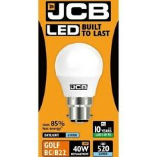 5x 6w 40w LED BC B22 Opale Balle de Golf Ampoule 520lm 6500k Lumière jour JCB
