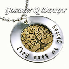 Personalised Any Name Or Word Vintage Family Tree Necklace Birthday Gift D187