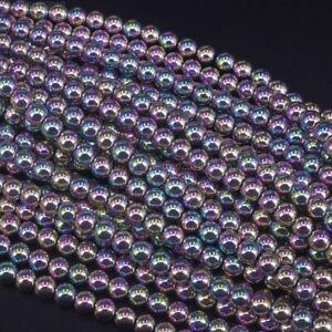 """Angel Aura Hematite Gemstones Round Beads 2mm 3mm 4mm 6mm 8mm 9mm 10mm 12mm 16"""""""