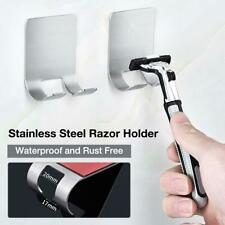 Stainless Steel Shaver Shelf Wall Mounted Storage Case Frame Holder Razor Rack