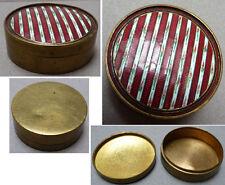 Superbe petite boite à pilules ronde en émail 19e siècle Napoléon III