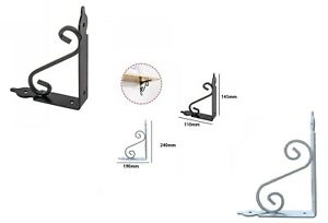 2 staffe ferro battuto staffa per mensole scattali fai da te reggimensola muro