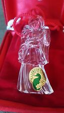 """WATERFORD Crystal Ornament  3D ANGEL - """"HOPE"""" -W/Pouch & Case -MINT"""