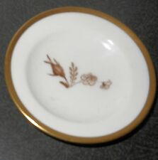 Royal Copenhagen Brown Rose Pattern #688 Butter Pat, Perfect Condition