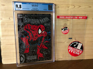 Spider-Man #1 (Aug 1990, Marvel) CGC 9.8 Silver Poly-Bagged Edition Lizard app
