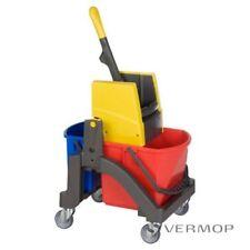Vermop Aquva Einfachfahreimer 1x17 l Reinigungswagen Putzwagen Fahrwagen