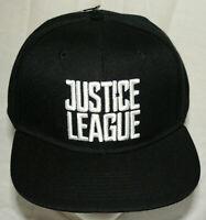 WB DC Comics Justice League Black Baseball Cap Hat New 2017 Batman Superman