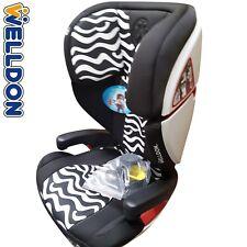 Welldon® Premium Autokindersitz 15-36 kg Zebra Look mit Isofix ECE R 44/04 NEU