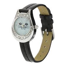 Swarovski Crystal Glamour Puss Watch - Cat Kitten Watch - Cat Lover Watch