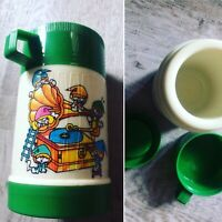 Vintage 80s Kitsch Kawaii Cute Childrens Plastic Elf Flask & Cup By Jyudung