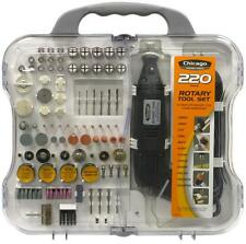 220PC Complete Rotary Tool Kit  Accessories Fits all, Variable Speed 3/32-1/8