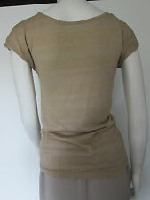 REDUCED MARKS & SPENCER LADIES  GOLD SHIMMERY SHEER BLOUSE TOP SIZE 8 BNWT £25
