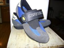 Carnac Cycling Shoes Black Blue Gray Yellow Size 41.5  EUR US Womens 8