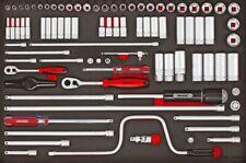 """Teng Tools TTESK86 86pc EVA 1/4"""" & 3/8"""" Drive Socket Set Metric Regular/Deep"""