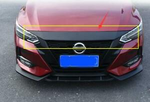 For Nissan Sentra 2020 2021 Carbon style Sticker Front Hood Cover Bonnet Molding
