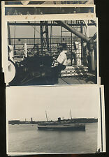 Lot of 15 B&W Photos Taken Aboard Unidentified United States Lines Ship