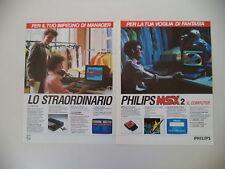 advertising Pubblicità 1987 COMPUTER PHILIPS MSX 2