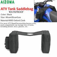 ATV Quad Fuel Tank Saddlebag Mobile Cup Holder Storage Bag For Polaris Kawasaki