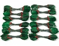 12 HOLLY CHRISTMAS PICKS lacquer dark green red hampers gifts cake decorations