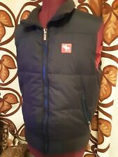 Abercrombie and Fitch - Mens Gilet Body Warmer, Blue Size - S - Zipped Pockets
