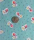 Vintage Partial Feed Sack Small Floral on Aqua Marine w/Dots   21'x18'