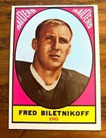 1967 Topps #106 Fred Biletnikoff - Raiders HOF
