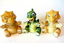 Land Before Time Dinosaur Set Pizza Hut Hand Puppet Toy Premium Lot Cera Ducky