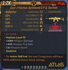 Borderlands 3 PS4 Level 60 OPQ Modded Mayhem 10