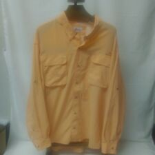 c80ca7fa Vented Fishing Shirt XXXXL Button Front Long Sleeve Orange World Wide  Sportsman